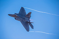 USAF F-22 Raptor in the sky over the 2017 Australian International Airshow.