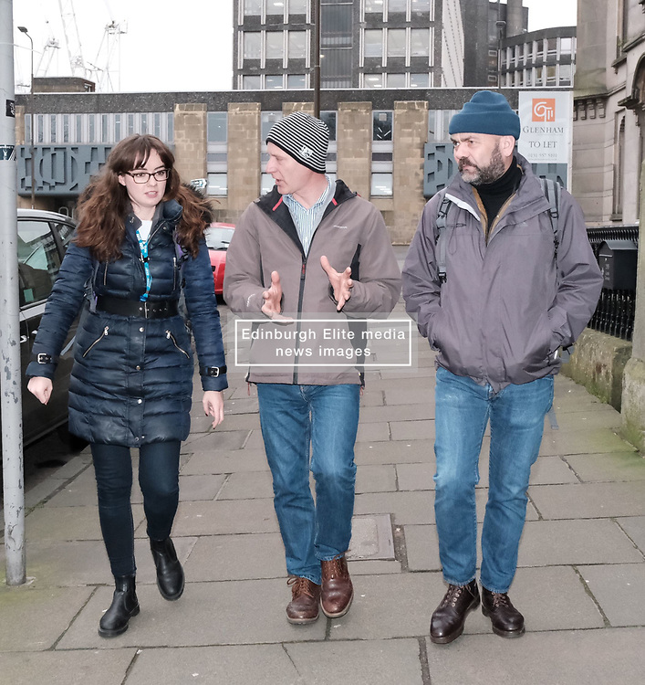 Public Health Minister Joe Fitzpatrick MSP visited the Street Outreach Programme in Edinburgh today, Friday 4th January 2019<br /> <br /> The programme provides essential primary health care for homeless patients.<br /> <br /> <br /> Pictured:  Joe Fitzpatrick MSP with two pharmacists from the programme<br /> <br /> Alex Todd   Edinburgh Elite media