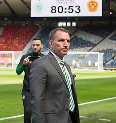 Celtic manager Brendan Rodgers before the William Hill Scottish Cup Final at Hampden Park, Glasgow.