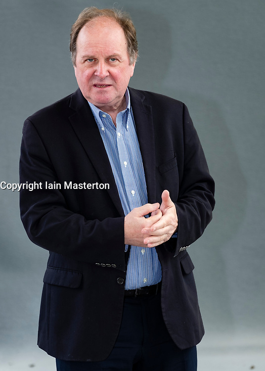 "Edinburgh, Scotland, UK; 16 August, 2018. Pictured; James Naughtie. BBC journalist hosted a panel discussing the topic "" Year of Unrest and Freedom""."