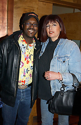 Florist ORLANDO HAMILTON and his wife at the opening party of Pengelley's, 164 Sloane Street, London SW1 on 22nd February 2005.<br />