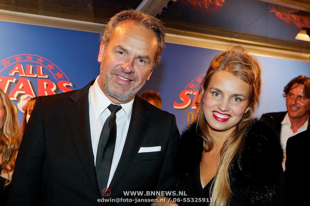 NLD/Amsterdam/20111010 - Premiere All Stars 2, Bert Kuizinga en dochter