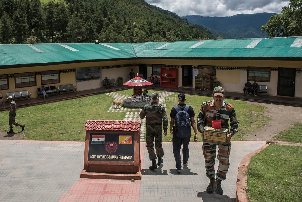 For a story by Steven Lee Myers, Bhutan<br /> Haa, Bhutan, August 3rd, 2017<br /> An Indian soldier at Haa dzong (fortress) which is used as headquarters for the region, close to a disputed border between Bhutan and China. The dispute escalated recently leading to a showdown between India and China. The use of the Dzong, a historical monument, by the Indian army, has created some resentment in Bhutan. <br /> Gilles Sabri&eacute; pour The New York Times