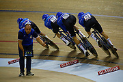 Men Team Sprint, Marco Villa (Italy), during the UEC Track Cycling European Championships Glasgow 2018, at Sir Chris Hoy Velodrome, in Glasgow, Great Britain, Day 2, on August 3, 2018 - Photo Luca Bettini / BettiniPhoto / ProSportsImages / DPPI - Belgium out, Spain out, Italy out, Netherlands out -