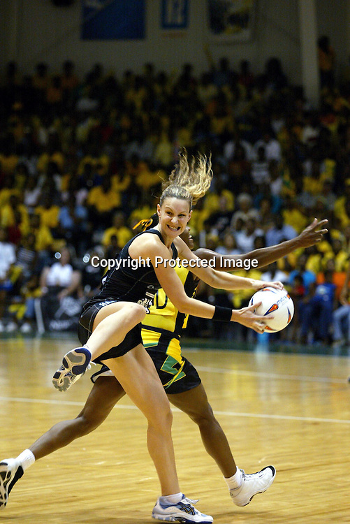 19 July 2003, World Netball Championships, Semi Final, New Zealand vs Jamaica, Independence Park Stadium, Kingston, Jamaica.<br />