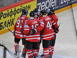 13.05.2013, Globe Arena, Stockholm, SWE, IIHF, Eishockey WM, Kanada vs Slowenien, im Bild Canada Kanada 91 Steven Stamkos gör 2-2 mål goal jubel glädje lycka glad happy // during the IIHF Icehockey World Championship Game between Canada and Slovenia at the Ericsson Globe, Stockholm, Sweden on 2013/05/13. EXPA Pictures © 2013, PhotoCredit: EXPA/ PicAgency Skycam/ Simone Syversson..***** ATTENTION - OUT OF SWE *****