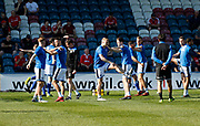 Rochdale players warming up during the EFL Sky Bet League 1 match between Rochdale and Charlton Athletic at Spotland, Rochdale, England on 5 May 2018. Picture by Paul Thompson.