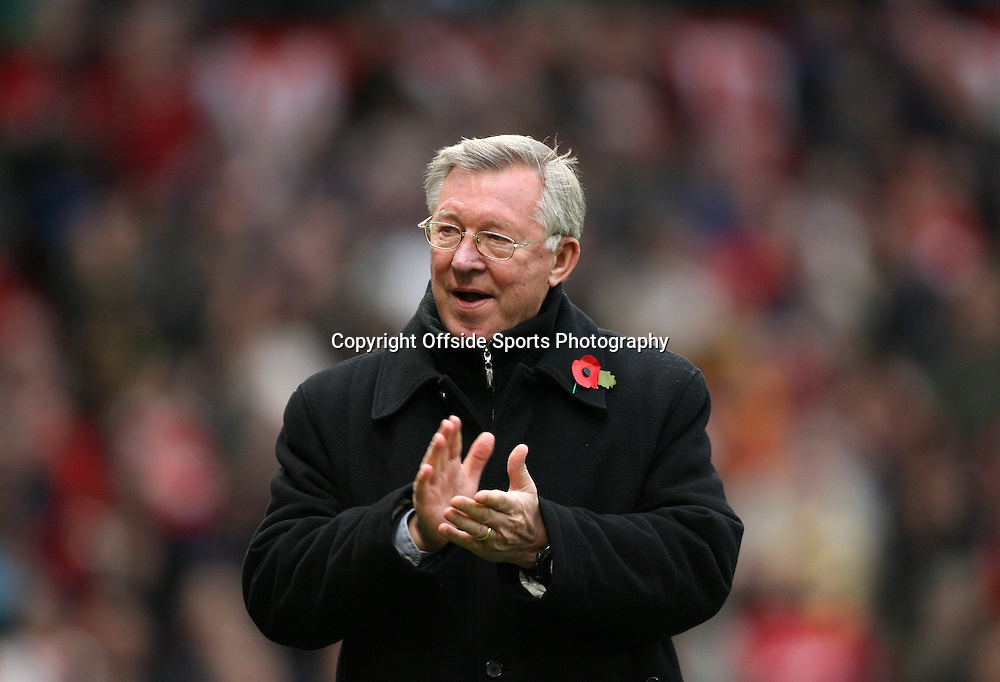 06/11/2010 - Manchester United vs. Wolverhampton Wanderers - Man Utd manager Sir Alex Ferguson - Photo: Simon Stacpoole / Offside.