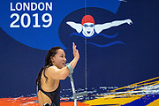 Alice Tai of Great Britain celebrates and waves to the crowd after winning Gold  in the Women's 100 m Butterfly S8 during the World Para Swimming Championships 2019 Day 3 held at London Aquatics Centre, London, United Kingdom on 11 September 2019.