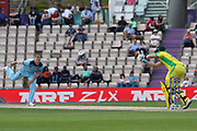 Stokes ties up Steve smith during the ICC Cricket World Cup 2019 warm up match between England and Australia at the Ageas Bowl, Southampton, United Kingdom on 25 May 2019.