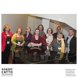 Jean Johnston;Jacqui Wood;Delia Shanly;Adria Buckton;Peter Avery;Judith McCann;Paul Voigt;Susan Ord;Julian Grimmond at the Spada Conference 06 at the Hyatt Regency Hotel, Auckland, New Zealand.<br />