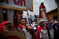 Semana Santa festivities, in Antigua, Guatemala. Every years thousands of people come to celebrate Holy Week in this coloful, colonial city.