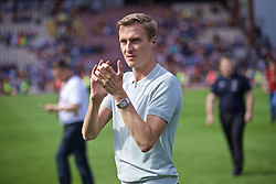 BRADFORD, ENGLAND - Saturday, July 13, 2019: Former Liverpool and Bradford City player Stephen Darby applauds the supporters after a pre-season friendly match between Bradford City AFC and Liverpool FC at Valley Parade. (Pic by David Rawcliffe/Propaganda)