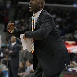 03 December 2008: Phoenix Suns coach Terry Porter reacts to an officials call during a 104-91 victory by the New Orleans Hornets over the Phoenix Suns at the New Orleans Arena in New Orleans, LA..