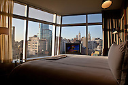 New York , midtown skyline, t view from a room in the cooper hotel, astor Place
