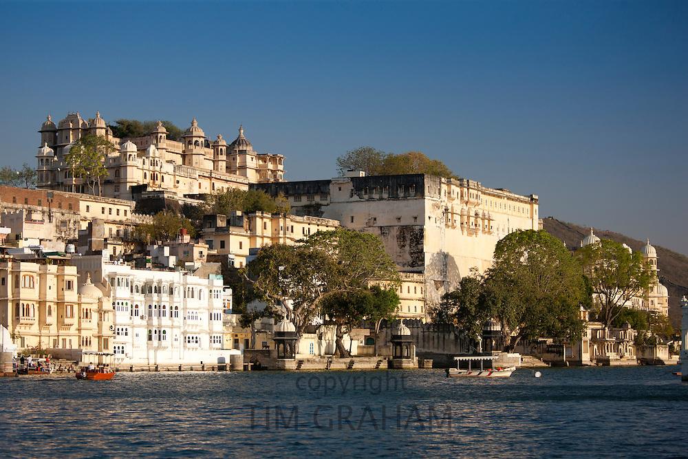 City Palace Complex and Shiv Niwas Palace Hotel of 76th Maharana of Mewar, Shreeji Arvind Singh Mewar of Udaipur Rajasthan India