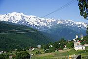 Georgia Svaneti mount Shkhara, Mountain landscape