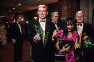 Hong Kong. St. Patrick society ball (Irish)   / Bal annuel irlandais de la St Patrick society   (irlandais) les jeunes en vert blanc et orange  / R00057/47    L940312a  /  P0000294