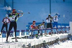 Klemen Bauer (SLO) during warmup before the Men 20 km Individual Competition at day 1 of IBU Biathlon World Cup 2019/20 Pokljuka, on January 23, 2020 in Rudno polje, Pokljuka, Pokljuka, Slovenia. Photo by Peter Podobnik / Sportida