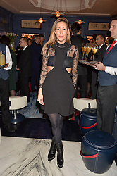 LONDON, ENGLAND 8 DECEMBER 2016: Laura Pradelska at the Omega Constellation Globemaster Dinner at Marcus, The Berkeley Hotel, Wilton Place, London England. 8 December 2016.
