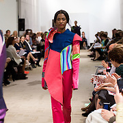 13.05.2016.           <br /> A model showcases designs by Elizabeth Emery titled 'Sugar Rush'  at the much anticipated Limerick School of Art & Design, LIT, (LSAD) Graduate Fashion Show on Thursday 12th May 2016. The show took place at the LSAD Gallery where 27 graduates from the largest fashion degree programme in Ireland showcased their creations. Ranked among the world's top 50 fashion colleges, Limerick School of Art and Design is continuing to mold future Irish designers.. Picture: Alan Place/Fusionshooters