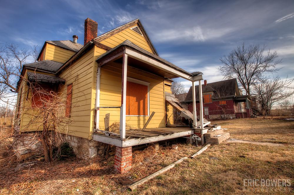 Abandoned House near Linwood and Wayne Streets, Kansas City, Missouri.