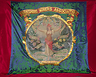 Yorkshire Miners Association Middleton Branch banner made by London banner makers G Tuthill ....