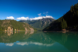 Lake Diablo with mountain reflection, North Cascades National Park, Washington, United States of America