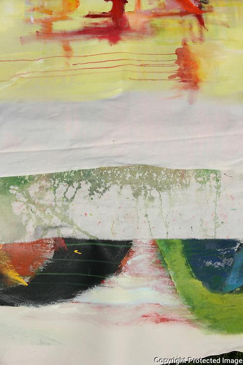 Workshop i Big painting på Haverneset i Selbu, arrangert av Idun Slevikmoen. Foto: Bente Haarstad