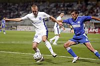 Fotball<br /> Frankrike<br /> Foto: Dppi/Digitalsport<br /> NORWAY ONLY<br /> <br /> FOOTBALL - UEFA CUP 2006/2007 - 1ST ROUND - 2ND LEG - AJ AUXERRE v DINAMO ZAGREB - 28/09/2006<br /> <br /> THOMAS KAHLENBERG (AUX) / MARIO CVITANOVIC (DIN)