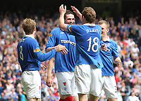 Football - Scottish Premier League - Rangers vs Hearts<br /> <br /> Rangers Kyle lafferty goal celebrations, during the Rangers vs Hearts Clydesdale Bank Premier league match at Ibrox Stadium