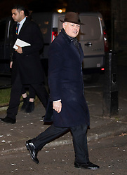 © Licensed to London News Pictures. 07/01/2019. London, UK. Iain Duncan Smith MP arriving in Downing Street to attend a drinks reception in Number 10. British Prime Minister Theresa May is currently trying to persuade MPs to back her Brexit withdrawal deal. MPs will be debating the issue this week, with the postponed vote taking place on Tuesday 15th January. Photo credit : Tom Nicholson/LNP