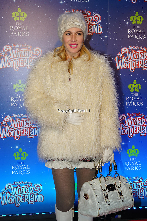 London, England, UK. 16th November 2017. Hofit Golan attend the VIP launch of Hyde Park Winter Wonderland 2017 for a preview. tomorrow is opening for the public