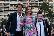 Vincent Cerutti, Sandrine Quetier and Chris Marques attend a photocall during the 54th Monte-Carlo Television Festival at Grimaldi Forum on June 8, 2014 in Monte-Carlo, Monaco.