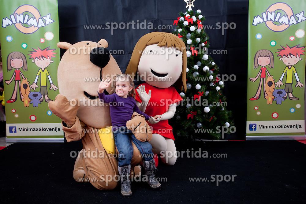 Promotion of Minimax Slovenija TV for kids at Telekom Slovenije on December 3, 2011, in BTC Citypark, Ljubljana, Slovenia. (Photo by Vid Ponikvar / Sportida)