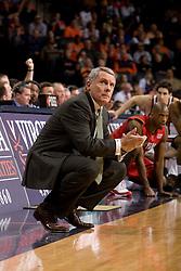Maryland head coach Gary Williams.  The Virginia Cavaliers defeated the Maryland Terrapins 91-76 at the University of Virginia's John Paul Jones Arena  in Charlottesville, VA on March 9, 2008.