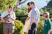 Duke and Duchess of Cambridge visit Taronga Zoo, Sydney , Australia. Catherine, Duchess of Cambridge and Prince William, Duke of Cambridge meet a Quokka, 20 April 2014