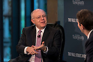 Ian C. Read, Chairman & CEO of Pfizer, Inc., speaks during The Wall Street Journal Viewpoints Executive Breakfast Series   in New York City on October 29, 2015. (photo by Gabe Palacio)