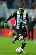 Miguel Almiron (#24) of Newcastle United on the ball during the The FA Cup match between Newcastle United and Oxford United at St. James's Park, Newcastle, England on 25 January 2020.