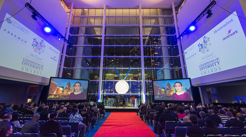 City of Houston Champions of Diversity Awards Ceremony at the George R Brown Convention Center, December 8, 2016.