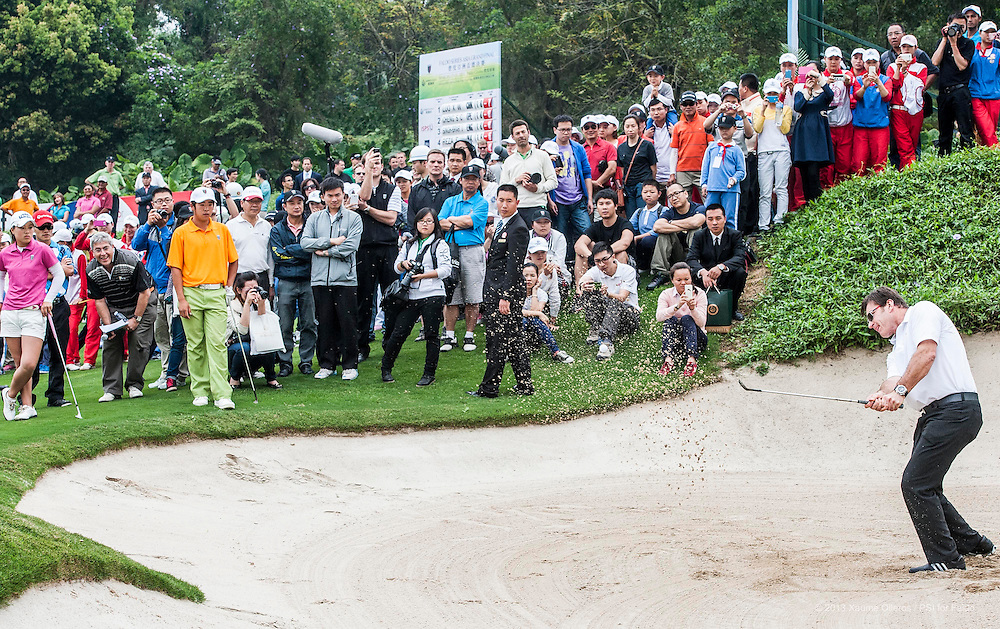 SHENZHEN, CHINA - MARCH 15: Day three of the Faldo Series Asia Grand Final on March 15th, 2013 in Shenzhen, China. Photo by Xaume Olleros / The Power of Sport Images