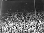 Crowds of supporters in the stands during the All Ireland Senior Gaelic Football Final Armagh v Kerry in Croke Park on the 27th September 1953. Kerry 0-13, Armagh 1-06.
