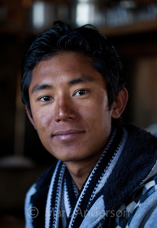 Portrait of a young Nepali man smiling, Nepal