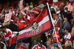 Fans during the semi final of the Vodacom Super Rugby 2016 season between the Lions and the Highlanders held at the Emirates Airline Park in Johannesburg, South Africa on the 30th July 2016Photo by  Real Time Images