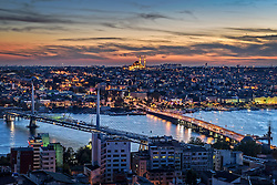 Istanbul sunset view from the Galata Tower