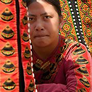 Paiwan girl, Annual Bunun Ear Festival, Maya village, Ming Chuan, Namasiya Township, Kaoshiung County, Taiwan