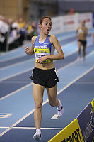 Photo: Rich Eaton.<br /> <br /> Norwich Union European Indoor Trials and UK Championships, Sheffield. 11/02/2007. Katrina Wootton crosses the line to win the womens 1500 metres