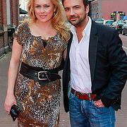 NLD/Amsterdam/20130408 - Uitreiking Mama of the Year award 2013, Gerard Ekdom en partner Nicole Smits