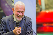 Sir Robin Knox-Johnston the recently announced sailor of the year meets other sailors. The CWM FX London Boat Show, taking place 09-18 January 2015 at the ExCel Centre, Docklands, London. 09 Jan 2015.