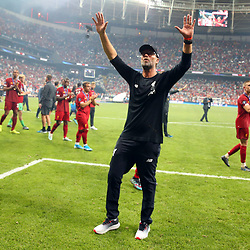 Coach Jurgen Klopp of Liverpool victory celebrates after the UEFA SUPERCUP match between Liverpool and Chelsea at Vodafone Park in Istanbul , Turkey on August 14 , 2019. <br /> Photo : Seskimphoto / Icon Sport